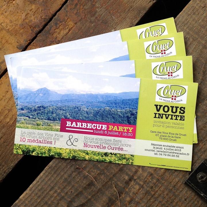 Cave de Cruet – Carton invitation