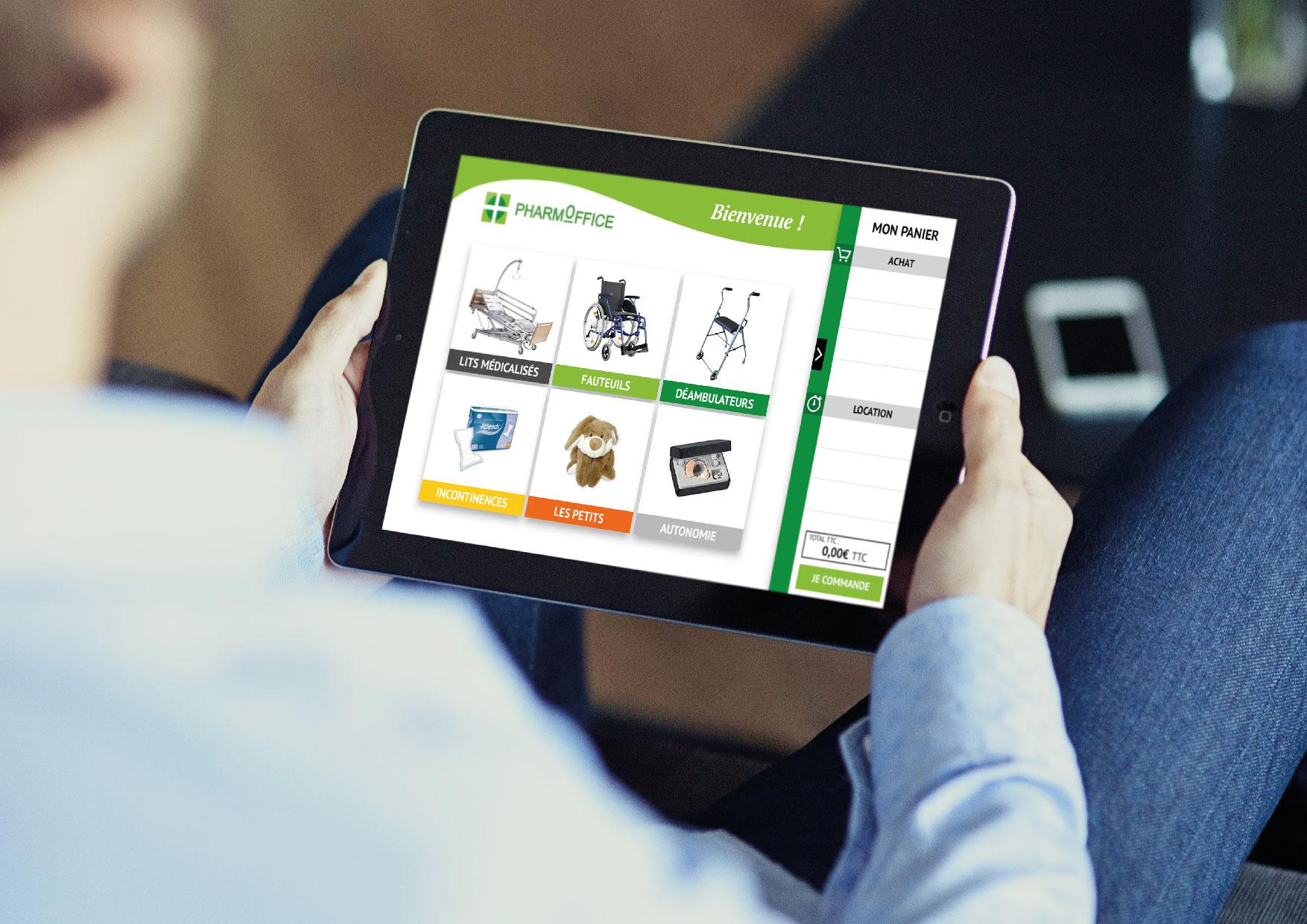 Webdesign Pharmoffice - Page produits