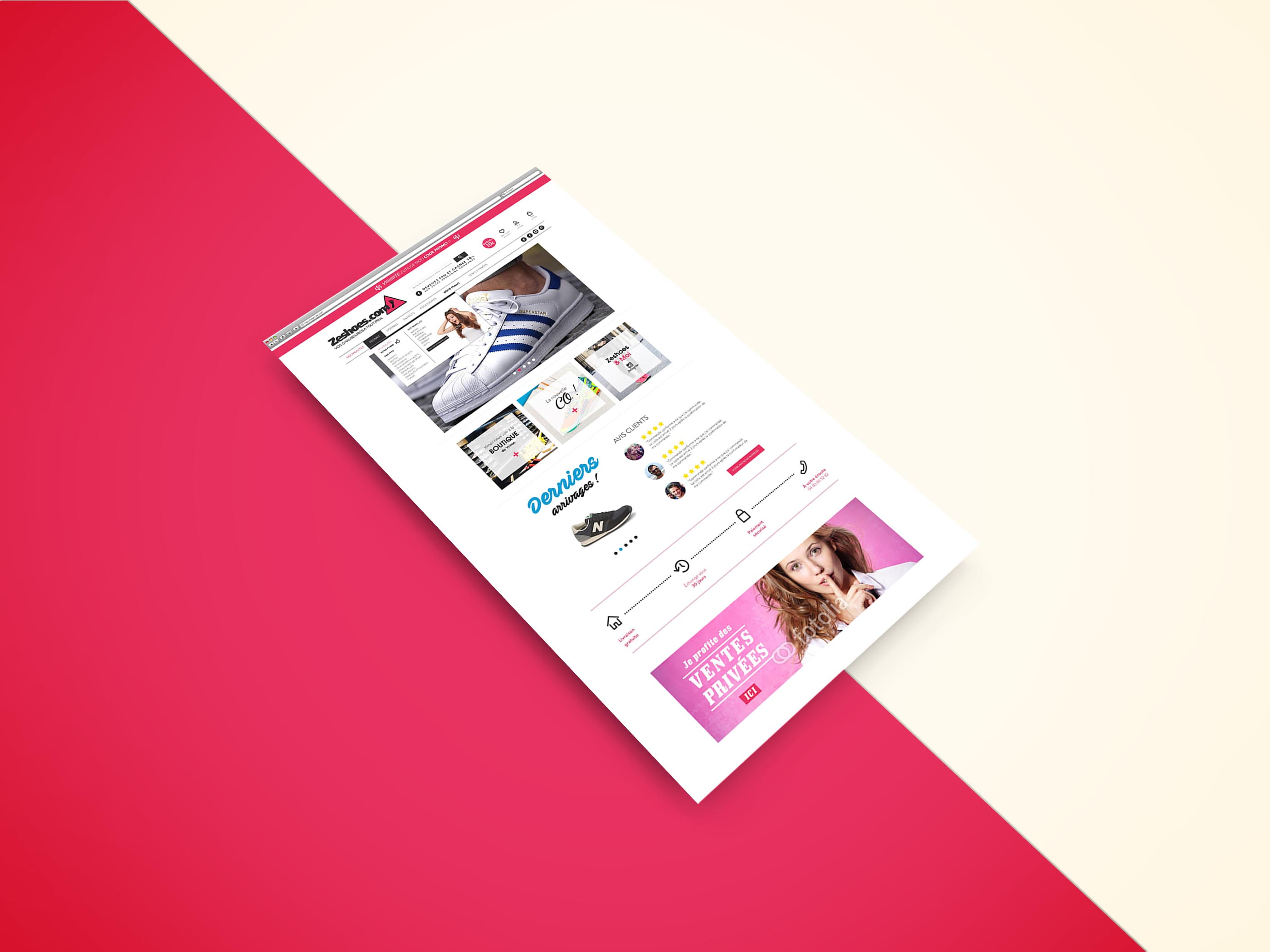 Webdesign-responsive-zeshoes-accueil
