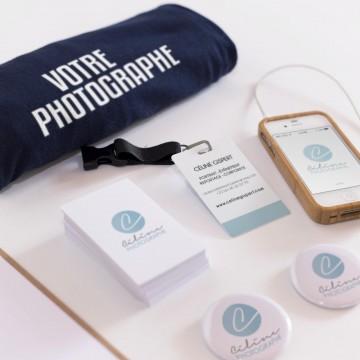 Réalisation du logo et de la charte graphique pour Céline Gispert Photographie