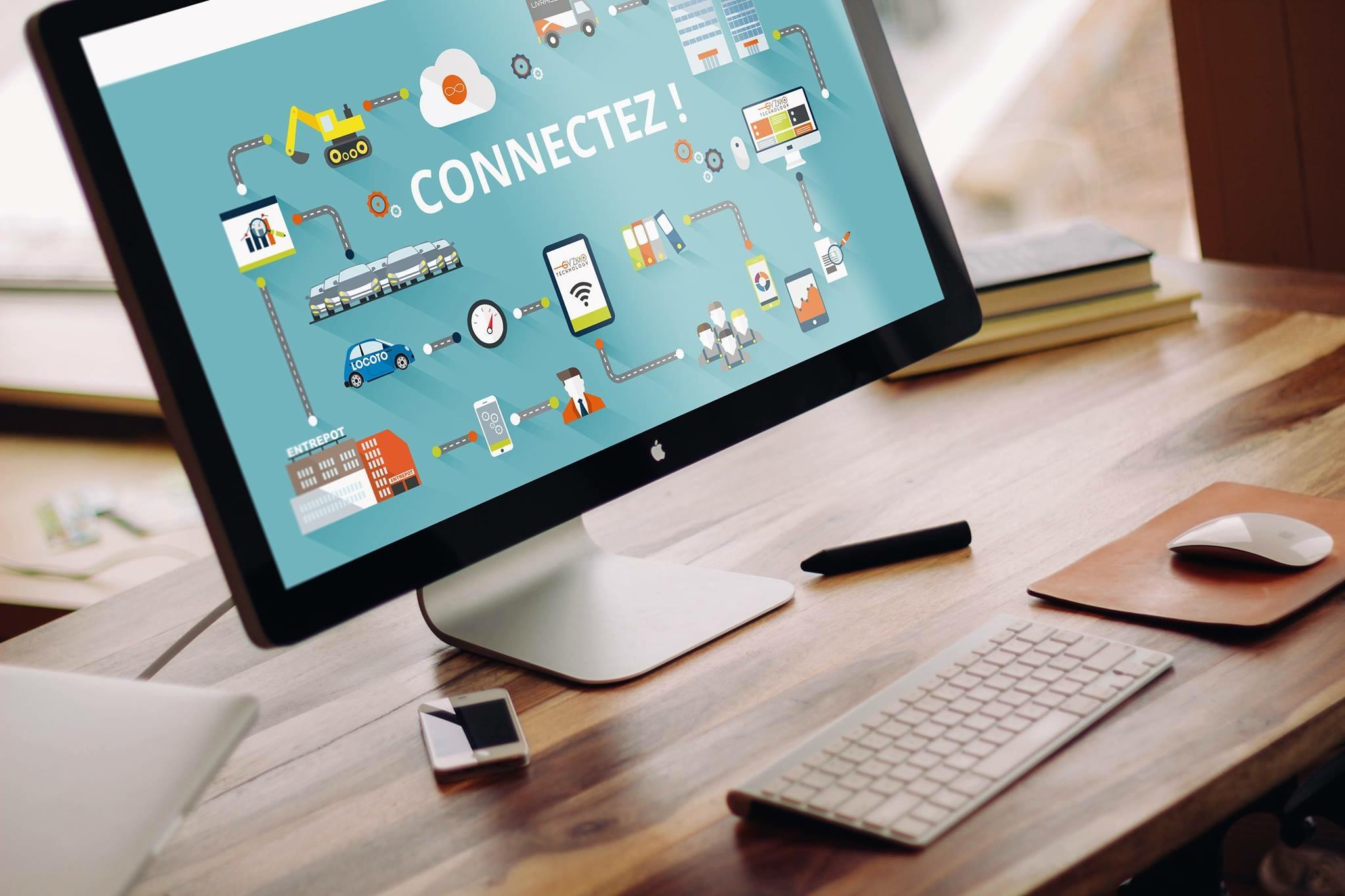 Réalisation du webdesign pour le site web de la nouvelle société GYZMO TECHNOLOGY