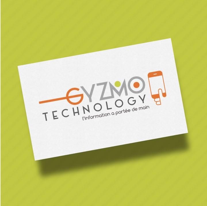 Réalisation des cartes de visite pour la nouvelle société GYZMO TECHNOLOGY