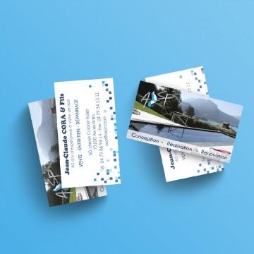 Réalisation des nouvelles cartes de visite ASP Cora à Aix les Bains