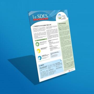 Newsletter - SDES Savoie communication interne - mise en page et infographie