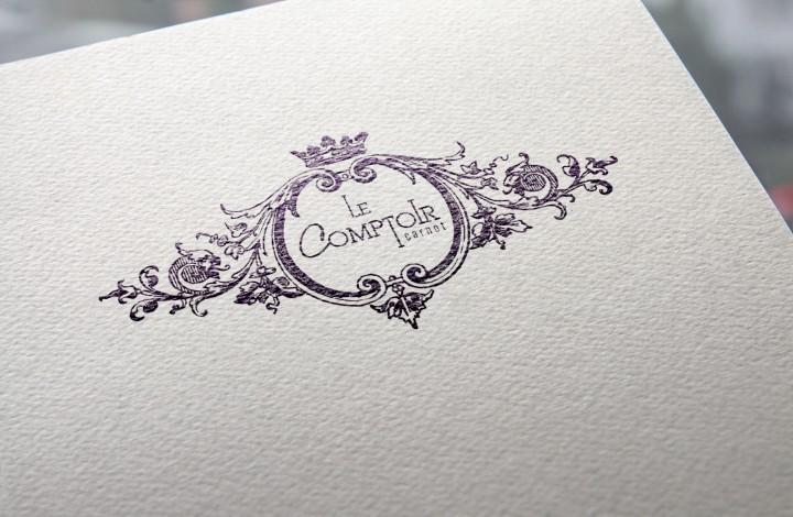Réalisation du logo et de la charte graphique pour le nouveau restaurant Le Comptoir Carnot à Aix-les-Bains