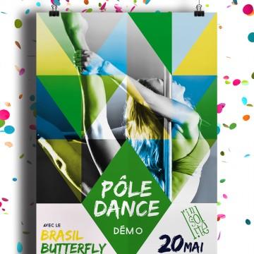 Création graphique de l'affiche pour la soirée Pôle Dance à l'Insolite bar à Aix-les-Bains