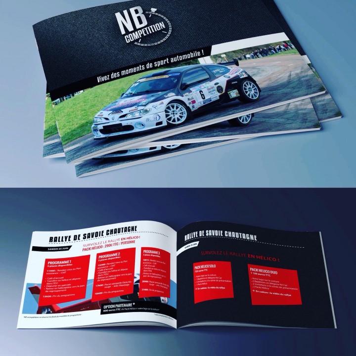 Réalisation de la brochure partenaires pour NB compétition