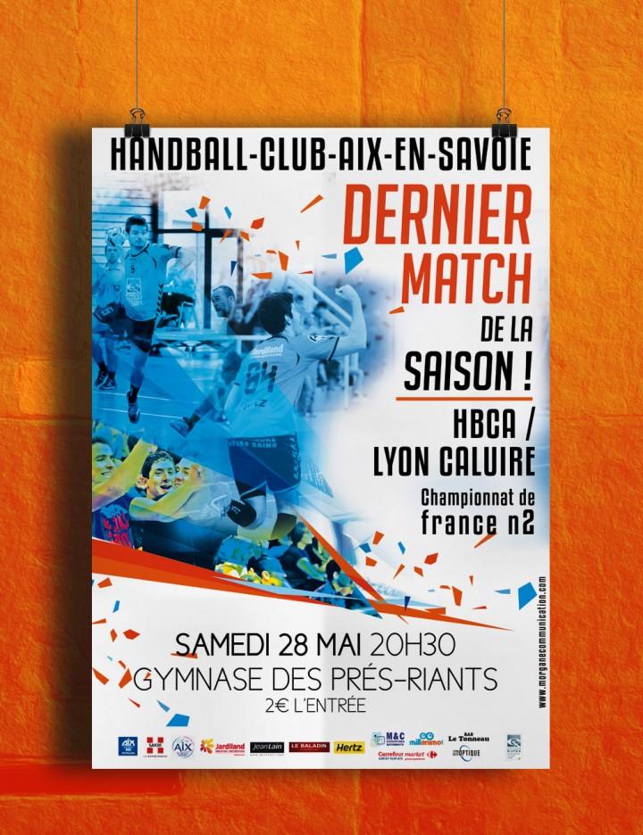 Réalisation de l'affiche pour le Handball Club d'Aix en Savoie