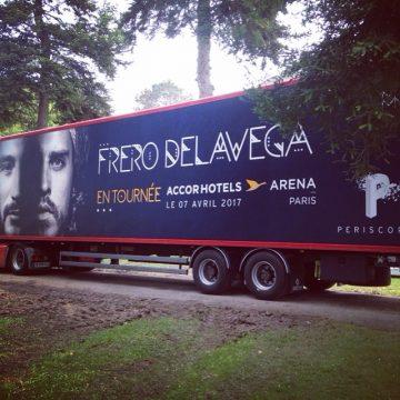 Réalisation du covering bus pour les Freros Delavega