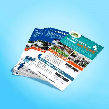 """Création flyer """"activités pleine nature"""" pour le parcours aventure Savoie"""