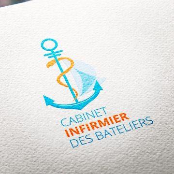 Création du logo cabinet infirmier des bateliers aix les bains