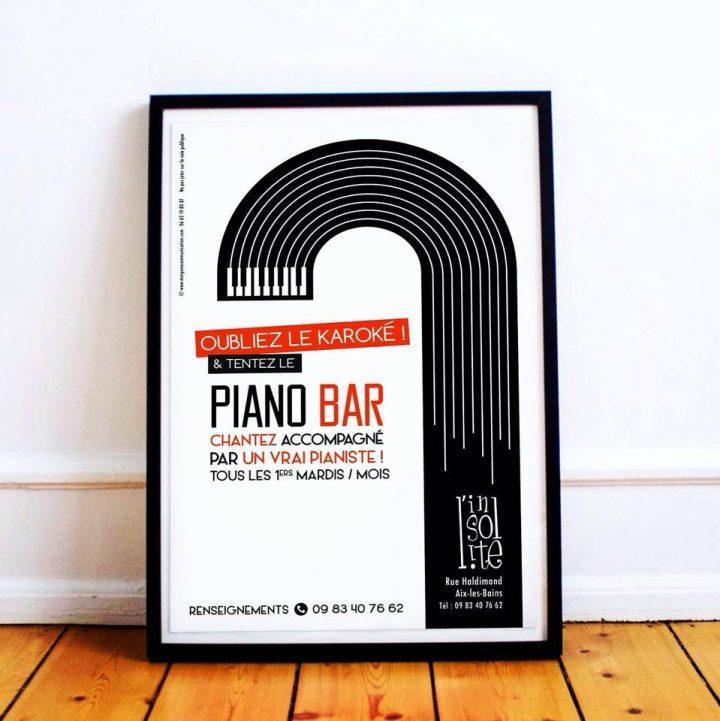 Bar l'Insolite  – Affiche soirée Piano Bar
