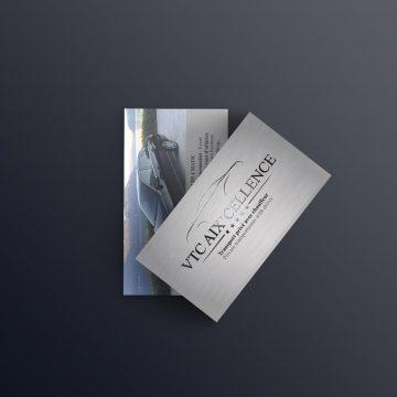 Réalisation du logo pour VTC Aix'cellence, chauffeur privé basé à Aix-les-Bains. Patrick Curtil vous propose un service de qualité pour vos transports d'affaires, évènements d'entreprises, mariages, transfert touristes... Déclinaison du logo et de la nouvelle charte graphique pour les cartes de visite. Imprimées sur du papier 350g, quardi recto verso et avec une finition haute de gamme : vernis sélectif !