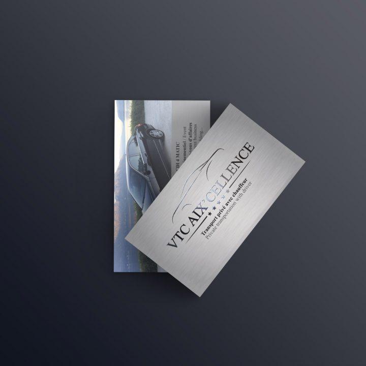 VTC Aix'cellence – Logo et carte de visite
