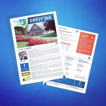 Réalisation du Grésy lien pour la commune de Grésy sur Aix