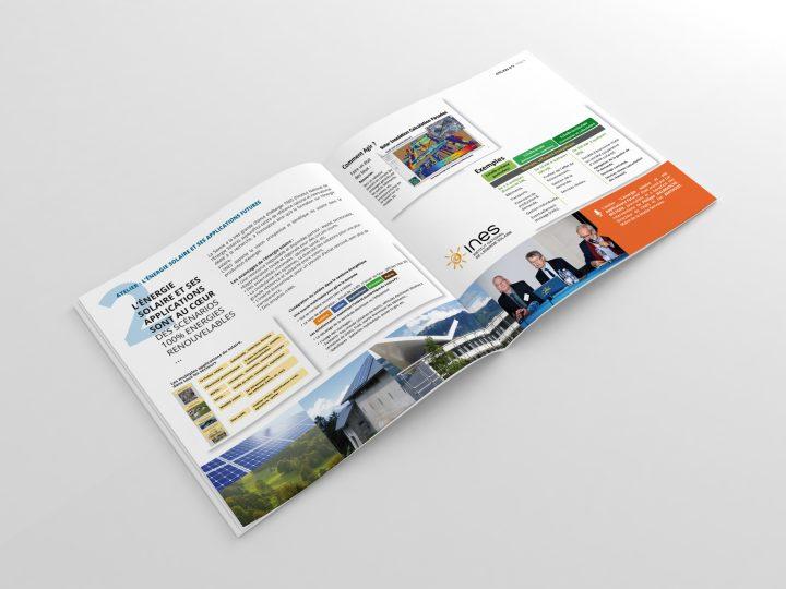 """Réalisation graphique et mise en page du Magazine """"Actes des 20 ans"""" pour le SDES de la Savoie"""
