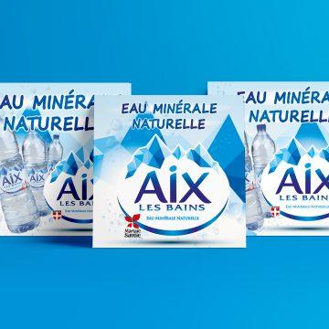 Réalisation d'une série d'affiches pour la société des Eaux d'Aix-les-Bains
